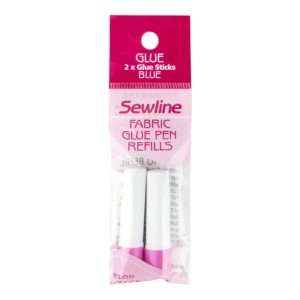 Sewline Glue Pen Stick two 2 refill Limpen