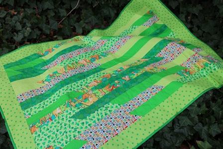 Kvik teknik tæppe grøn