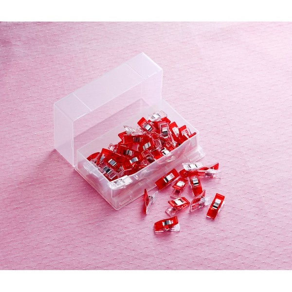 Clover Wonder Clips Red 50 pieces pcs Roed 50 stk 2