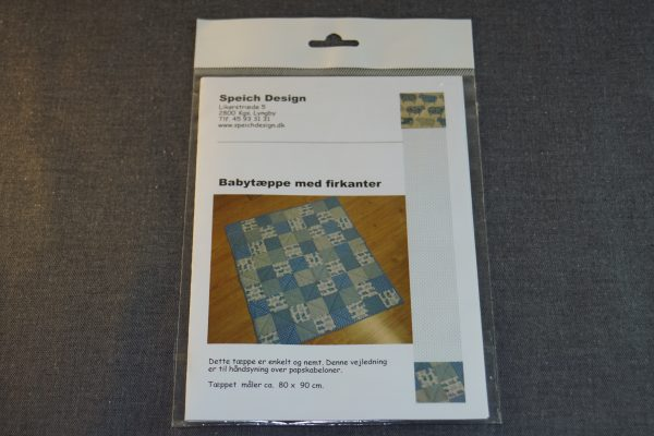 Babytæppe med firkanter