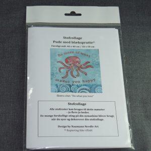 Stofcollage med blæksprutte