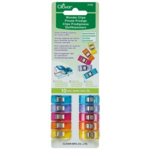 Clover Wonder Clips Multi assorted 10 pieces pcs Multifarvet 10 stk