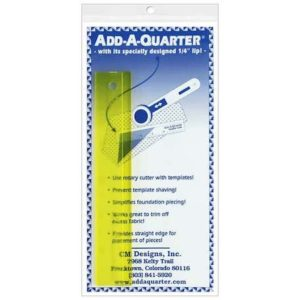Add-A-Quarter 6 inch ruler lineal