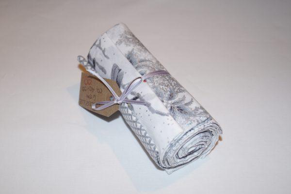 Julebundt sølv hvid