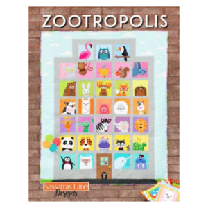Zootroplis Patchwork Book Bog Applique Sassafra Lane Designs