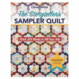 The Storytellers Sampler Quilt Patchwork Book Bog Cinzia White